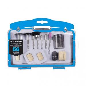 Set Kit Accesorios Mini Torno Juego 56 Piezas Gamma Estuche