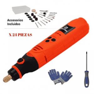 Minitorno Manual A Bateria Usb 3.2mm 3.6v 24 Piezas Dowen